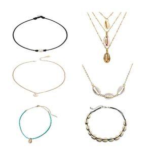 Jewelry - Puka Sea Shell Necklace Choker Cowry Collar